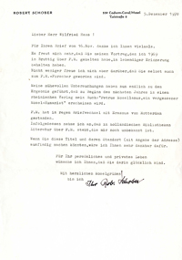 brief Robert Schober (1978)